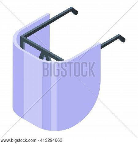 Pandemic Face Shield Icon. Isometric Of Pandemic Face Shield Vector Icon For Web Design Isolated On
