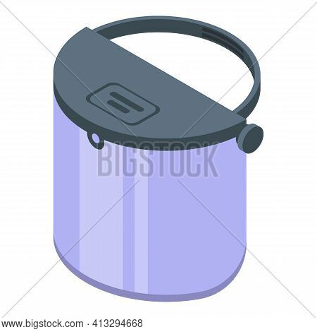 Equipment Face Shield Icon. Isometric Of Equipment Face Shield Vector Icon For Web Design Isolated O