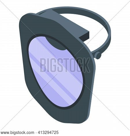 Glass Face Shield Icon. Isometric Of Glass Face Shield Vector Icon For Web Design Isolated On White