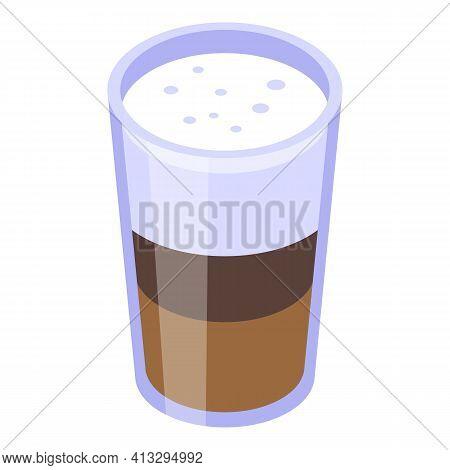 Latte Break Icon. Isometric Of Latte Break Vector Icon For Web Design Isolated On White Background