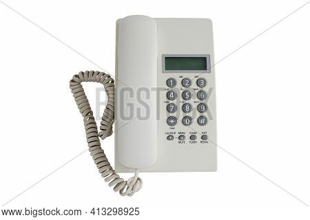 Telephone Or Landline Phone Isolated On White Background