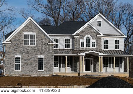 Facade Cladding With Stone Rock House Stone Nature