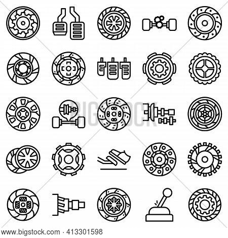 Clutch Icon. Outline Clutch Vector Icon For Web Design Isolated On White Background