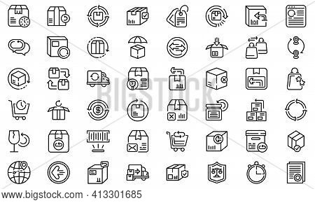 Return Of Goods Icon. Outline Return Of Goods Vector Icon For Web Design Isolated On White Backgroun