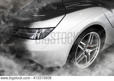 Kiev, Ukraine - August 21, 2011: Mercedes-benz Slr Mclaren Stirling Moss. Amg. Luxurious Exclusive S