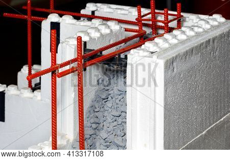 The Diagram Shows The Use Of Metal Reinforcement In Conjunction With Concrete In Construction When L