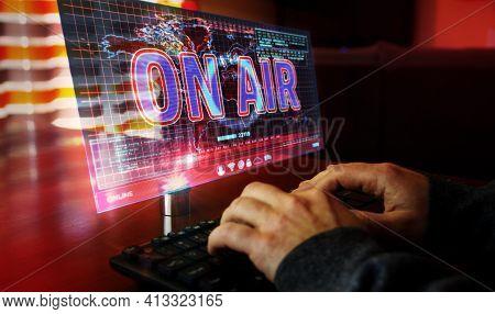 On Air Broadcast On Screen Illustration