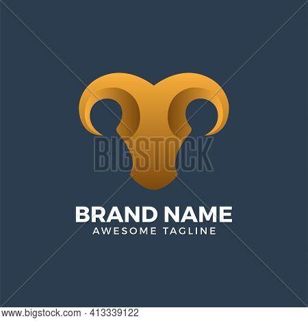 Abstract Goat Head. Abstract Goat Logo. Goat Vector. Goat Illustration. Goat Icon. Goat Mascot. Anim