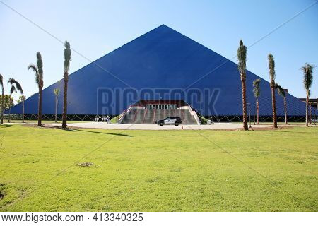 March 15, 2021- Long Beach, California  United States: The Walter Pyramid at California State University Long Beach California State University, Long Beach.  Editorial Use Only.