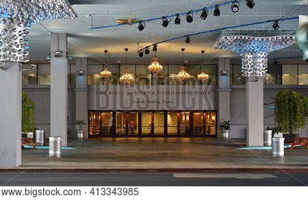 LONG BEACH, CALIF - SEPT 10, 2018: Long Beach Convention Center Seaside Meeting Room entrance.