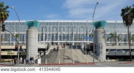 LONG BEACH, CA - FEBRUARY 21, 2015: Long Beach Convention and Entertainment Center. The center has more than 400,000 square feet of meeting and exhibit space.