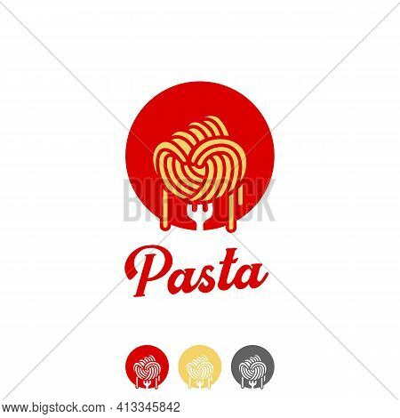 Spaghetti Fist Pasta Ramen Noodle Logo In Hand Punch Fist Shape Icon Symbol Of Freedom Power Fighter