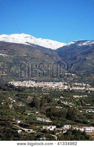 White village in Sierra Nevada, Orgiva, Spain.
