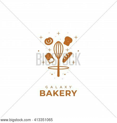 Galaxy Bakery Logo Symbol Of Bread Product Or Bakery Company