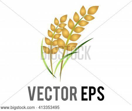 The Vector Rice Plant Icon, Represent Wheat, Corn, Oats, Sorghum, Crops, Field,  Harvests And Farmin