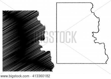 Lincoln County, State Of South Dakota (u.s. County, United States Of America, Usa, U.s., Us) Map Vec
