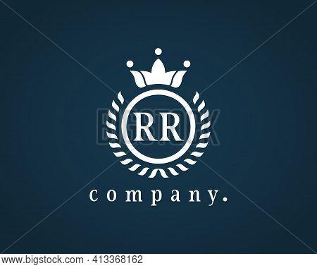 Monogram Design Elements, Graceful Mockup. Letter Rr R Elegant Logo Design For Royalty, Business Car