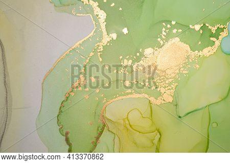 Multicolor Abstract Background Liquid. Alcohol Inks Splash. Luxury Wave Wallpaper. Fluid Acrylic Pri