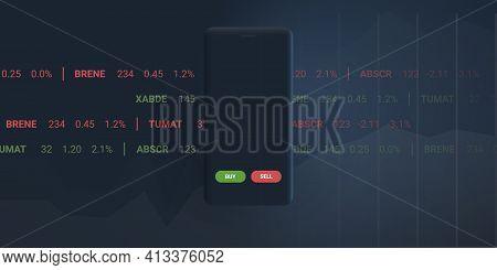Digital Business And Market Analysis, Stock Trading, Investment Helper Apps, Robo Advisor Concept De