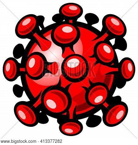 Covid-19 Corona Virus Vector Art Graphic Symbol Isolated On White Background