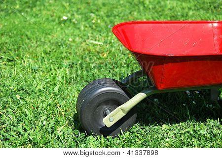 The Red Handbarrow In The Garden.