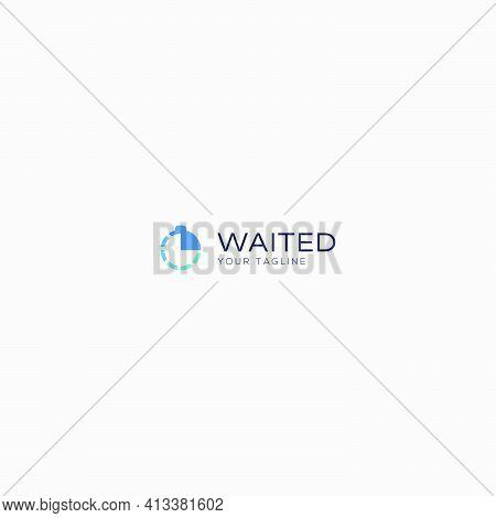 Waited Time Clock Logo Stopwatch Simple Watch