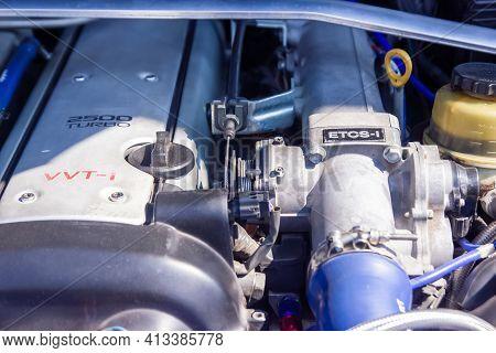 Car Engine, Car Engine Close Up, Engine Of A Sports Car