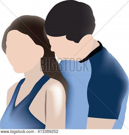 Couple Of Faceless Lovers Couple Of Faceless Lovers