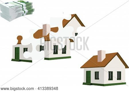 Build House With Puzzle Build House With Puzzle