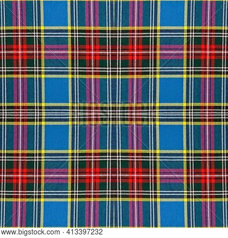 Beautiful Seamless Noble Tartan Multicolors Green, Red, Blue,yellow, Black And White Colors.  Abstra