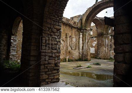 Ruins Of The Ancient Santa Maria Church In Itri, Italy