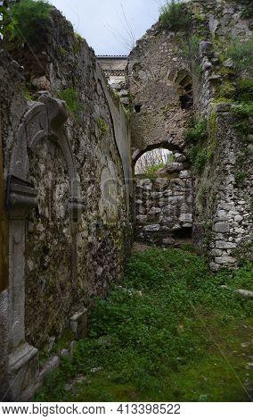 Itri Ruins In The Historic Town Italian Region Of South Lazio