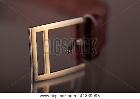 Conventional Belt Buckle With Single Square Frame And Prong