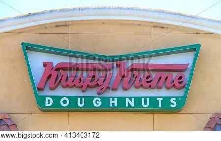 Union City, Ca - July 12, 2019: Krispy Kreme Doughnuts, Inc., An American Doughnut Co And Coffeehous