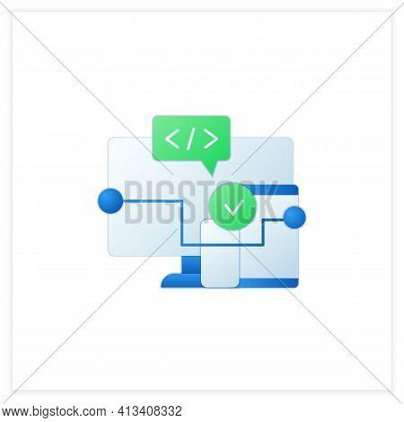 Cross Platform Software Flat Icon. Implemented On Multiple Computing Platforms. Programming Environm