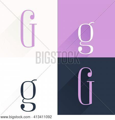 G Letter Condensed Serif Font Set. Perfect To Use In Elegant Branding, Luxury Logo, Wedding Invitati