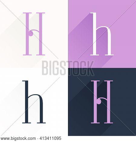 H Letter Condensed Serif Font Set. Perfect To Use In Elegant Branding, Luxury Logo, Wedding Invitati