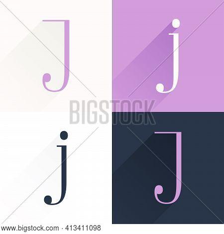 J Letter Condensed Serif Font Set. Perfect To Use In Elegant Branding, Luxury Logo, Wedding Invitati