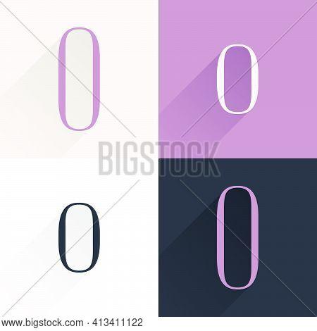 O Letter Condensed Serif Font Set. Perfect To Use In Elegant Branding, Luxury Logo, Wedding Invitati