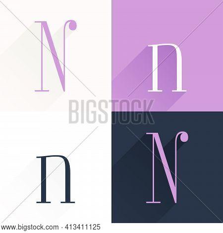 N Letter Condensed Serif Font Set. Perfect To Use In Elegant Branding, Luxury Logo, Wedding Invitati