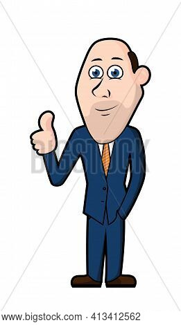 Vector Businessman Character, Mascot For Corporate Materials