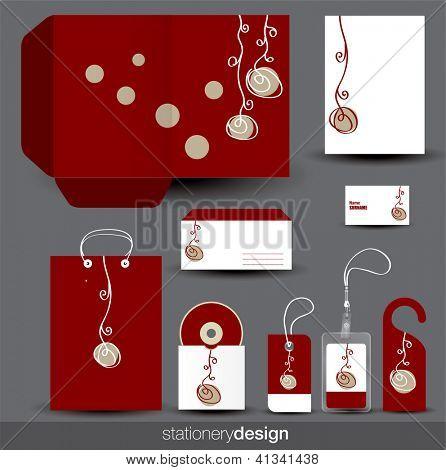 Stationery design set. Vector format in portfolio