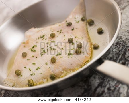 Pan Fried Wing Of Skate With Caper Butter