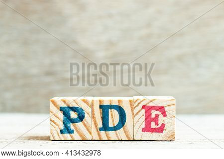 Alphabet Letter Block In Word Pde (abbreviation Of Permitted Daily Exposure, Partial Differential Eq