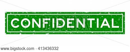Grunge Confidential Word Square Rubber Seal Stamp On White Background