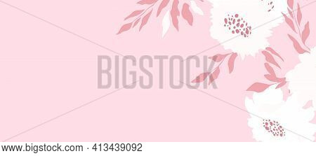 Happy Birthday, Holiday, Celebration Greeting And Invitation Card. Colorful Floral Banner With Color