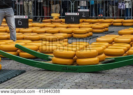 Alkmaar, Netherlands - May 18, 2018: Cheese Market Transport