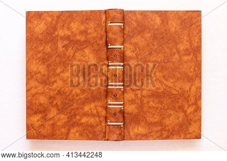 Brown Book Cover Close Up Mock Up