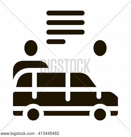 Car Dealer Buyer Icon Vector Glyph Illustration