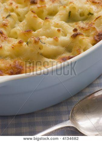 Dish Of Macaroni Cheese